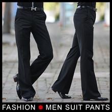 黒送料無料 男性のフレアズボン正式なパンツベルボトムパンツダンススーツパンツサイズ 28-33