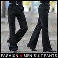 Men ' s pantalones acampanados pantalones formales de Bell Bottom Pant traje de baile tamaño 28-33 negro envío gratis