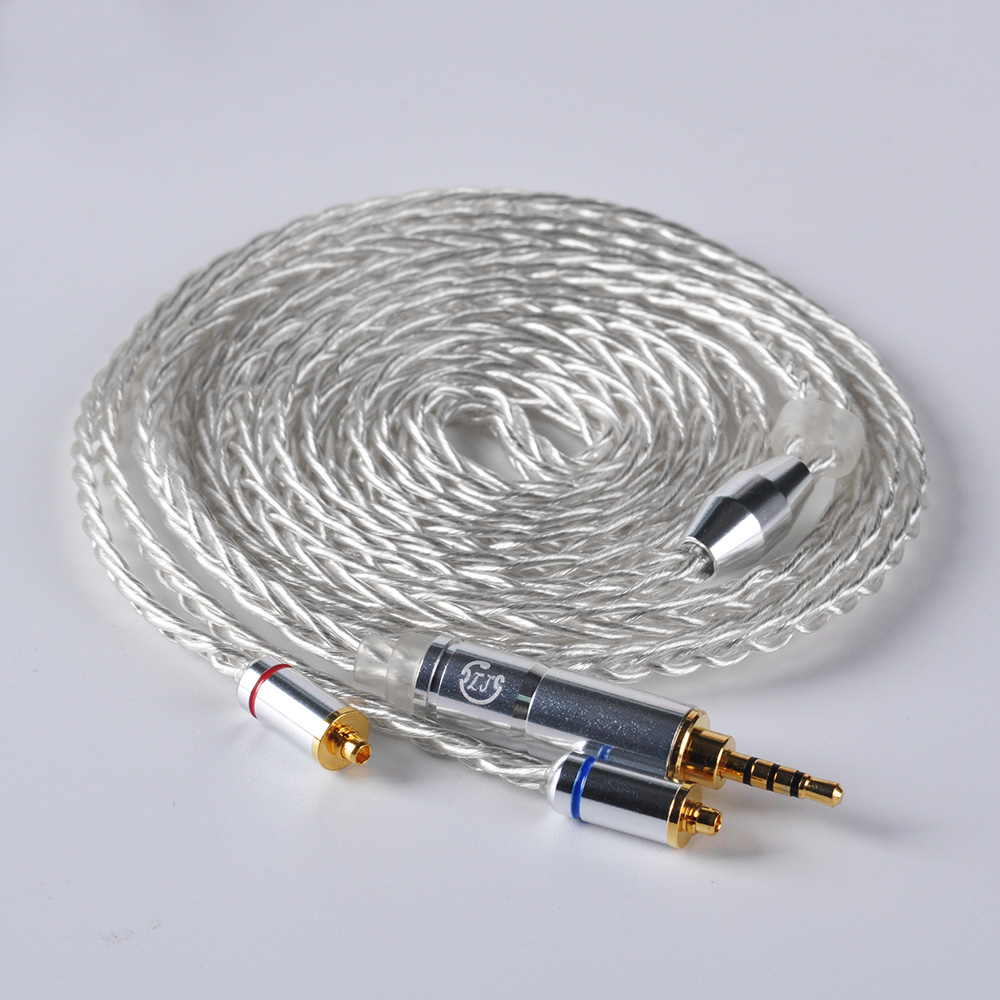 купить LZ 8 core 6N Single Crystal Copper Silver Plated Cable 2.5/3.5/4.4mm Balanced Cable With MMCX Connector For LZ A5 A4 HQ8 HQ10 онлайн