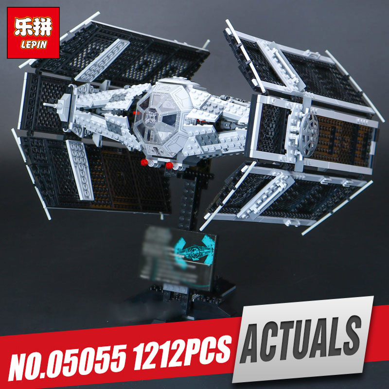 Lepin 05055 Star Series The Rogue model One USC Vader set TIE toy Advanced Fighter Set Building Blocks Bricks Toy legoing 10175 dhl lepin 05055 star series military war the rogue one usc vader tie advanced fighter compatible 10175 building bricks block toy