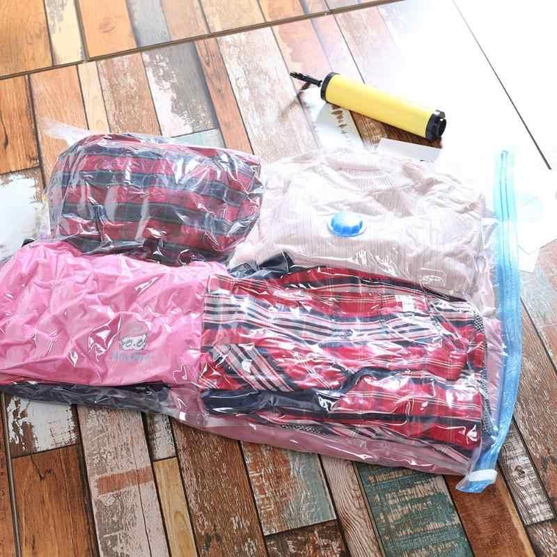 Dobrável Saco de Armazenamento de vácuo Comprimido Extra Grande Saco de Borda Transparente Seal Comprimido Organizador Sacos Organizador