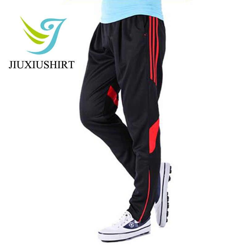 を実行している男性のスポーツウェアジム服フィットネススポーツ弾性トレーニングトラックスーツバスケットボールズボンプラスサイズ