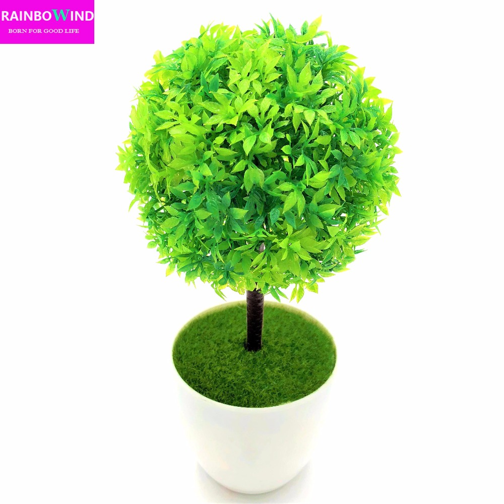 1pc Wedding Decoration Sakura Emulate Bonsai Simulation Decorative Artificial Flowers Fake Green