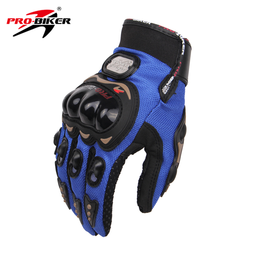 PRO-BIKER Full Finger Motorcycle Airsoftsports Riding Racing Tactical Gloves Auto Engine Protection Cycling Sport Gloves MCS-01C