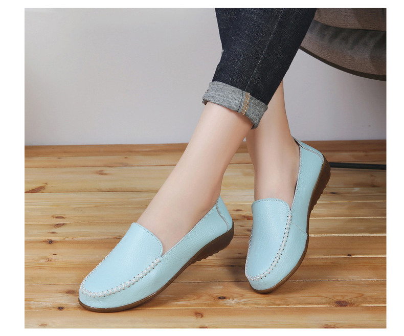 XY 518-2019 Genuine Leather Women's Shoes Soft Woman Loafers-14