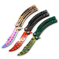Training Practice Fold Karambit CS GO Game Collection Balisong Butterfly Trainer Knife Men Gift