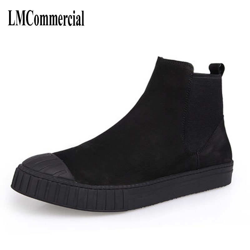 Autumn and winter men Martin male leather shoes boots high boots with cotton fluff warm winter shoes men mulinsen latest lifestyle 2017 autumn winter men