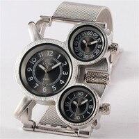 Mens Unique Designer Watches Oulm Famous Brand Authentic Clock Quality Military Full Steel Japan Movt Quartz