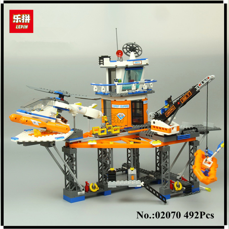 IN-STOCK LEPIN 02070 492PCS Relax Coast Guard City Platform City CITY Series 4210 Assembled Building Blocks Brick Toys lepin 02070 492pcs city series coast guard model building blocks bricks toys for children gift