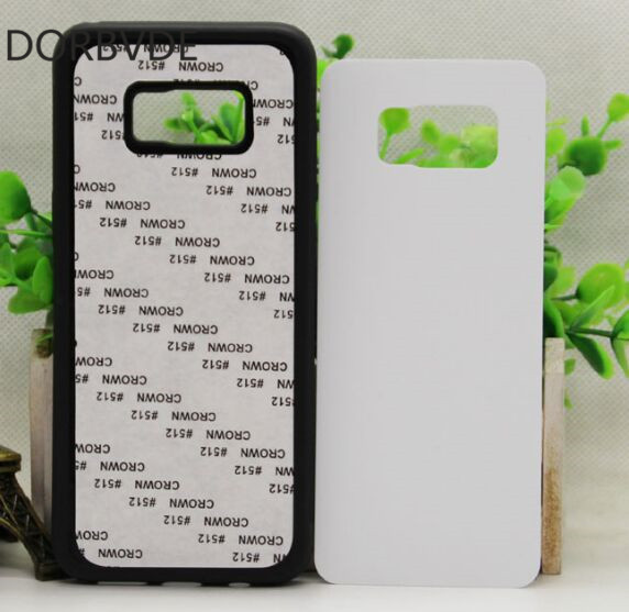 2D Sublimation Blank TPU PC rubber Case for Samsung Galaxy S8 plus with Aluminum Inserts 100pcs