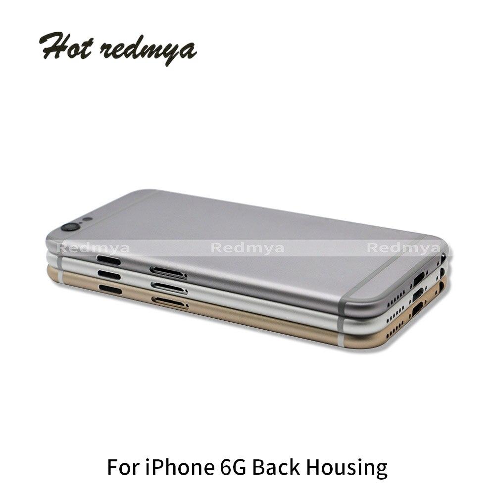 Carcasa trasera para iphone 6 6 S Cubierta de la puerta caso marco medio cuerpo de chasis para iphone 6 6 S Plus carcasa de Metal libre de la cubierta de IMEI