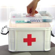 Большой Коробке Медицины Аптечка Пластика многослойные Лекарства Ящики Для Хранения Отделка Коробки