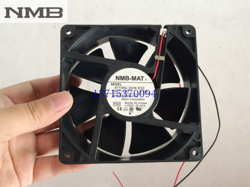 For NMB 12CM Cooling Fan 4715KL-04W-B30 12V 0.72A 12038 120*120*38mm
