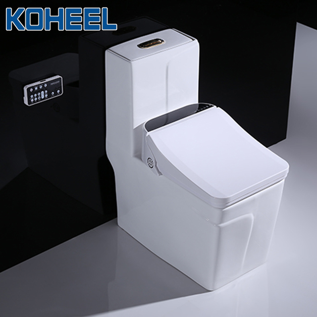 KOHEEL square intelligent toilet seat cover electronic bidet toilet bowls seat heating clean dry smart toilet lid for bathroom