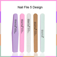 5 pcs/lot MIX Nail File 100 or180/180 Acrylic UV Gel Curved Mail Nail Files Buffer Buffing Manicure Set Beauty Tools Nail Buffer цена 2017