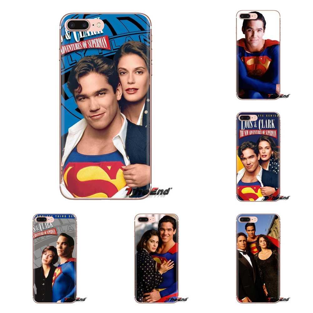 LG G3 G4 Mini G5 G6 G7 Q6 Q7 Q8 Q9 V10 V20 V30 X Güç 2 3 K10 k4 K8 2017 Yumuşak Kapak Lois & Clark Yeni Maceraları Superman