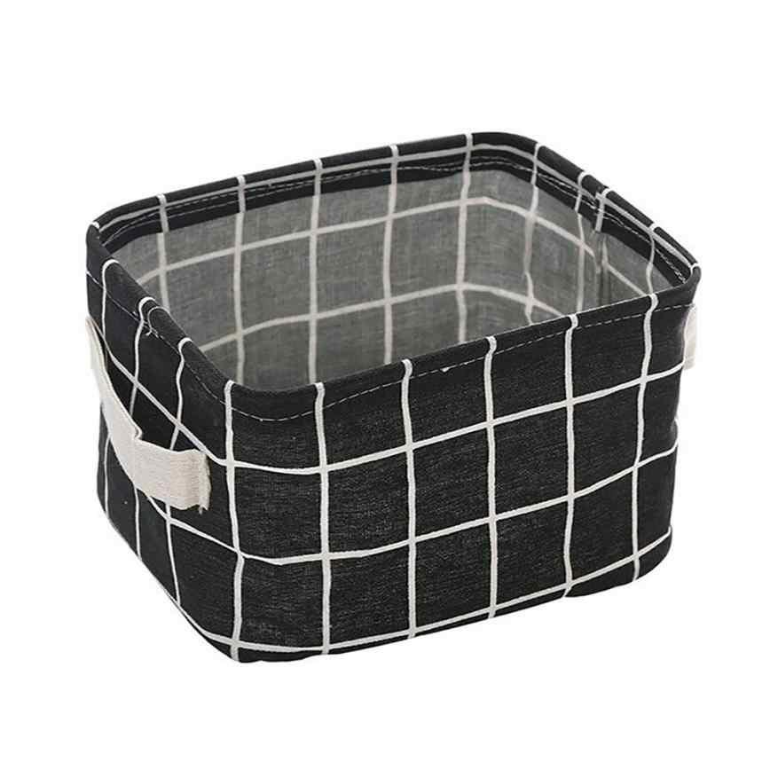Grade Cotton Linen Escritório Organizador Armazenamento De Desktop Cesta de Armazenamento de Underwear Caixa de Armazenamento de Artigos Diversos De Gabinete Recipiente # TX4