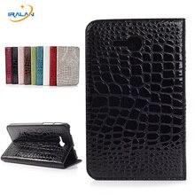 Case Para Samsung Galaxy Tab 3 Lite 7.0 T110 T111 Tablet Soporte Del Tirón Patrón de Lujo Del Cocodrilo Cubierta de Cuero de La Pu + Stylus + Screen film