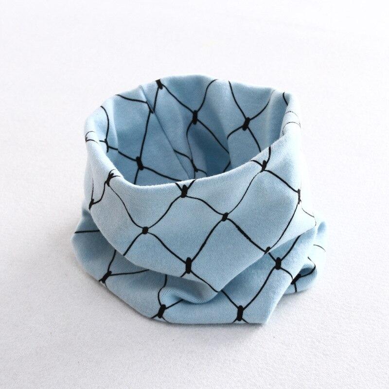 Осенне-зимний детский хлопковый шарф для девочек и мальчиков теплые шарфы Детский круглый кольцевой ошейник Детский шарф детский волшебный шейный платок - Цвет: grid 8