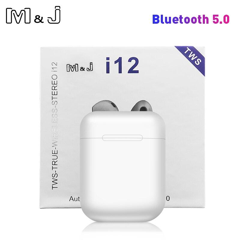 I12 tws Pop Up Do Bluetooth Fones de Ouvido Fones De Ouvido fone de Ouvido Sem Fio Mini 5.0 fone de ouvido Estéreo Fones de Ouvido Sem Fio Para telefone Sem Fio
