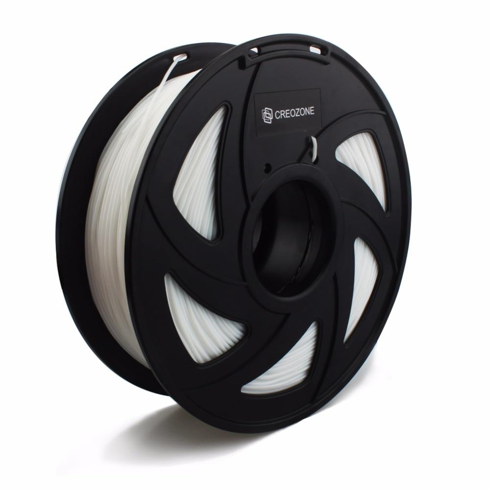 CREOZONE Flexible 3D Printer Filament White TPU Plastic for 3D Printer 1 75mm 1KG Flex TPU