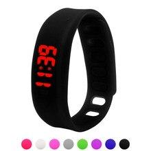 Творчески 1 ШТ. Спортивные Часы Женские Мужские Резиновые LED Watch Дата Спорт Браслет Наручные Часы Мужчины
