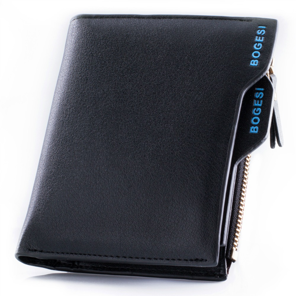New Men Wallets Famous Brand Genuine Leather Mens Wallet Male Money Purse With Zipper Wallets Cowhide Men Wallet With Coin Bag