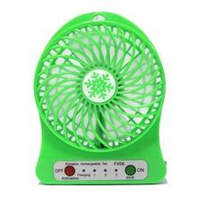 Mini Desk USB Fan Outdoor Travel Camping LED Light Fan Elect