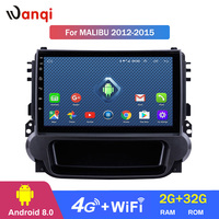 Android 8.0 2+32G 9 Inch 3G 4G WIFI Car Dvd Gps Navigation System for2012 2013 2014 Chevrolet Malibu with Bluetooth USB SWC RDS