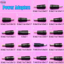 YuXi 5.5x2.1mm/7.4x5.0mm Para 5.5x2.5mm/4.8x1.7mm plugue macho Laptop DC Power Adapter Converter connector For HP DELL Lenovo. ..(China)