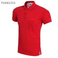 New 2016 Fashion Pocket Polo Shirt Men Polo Homme High Quality Men Solid Polo Shirts Short Sleeve Brand Polo Homme Plus size 3Xl