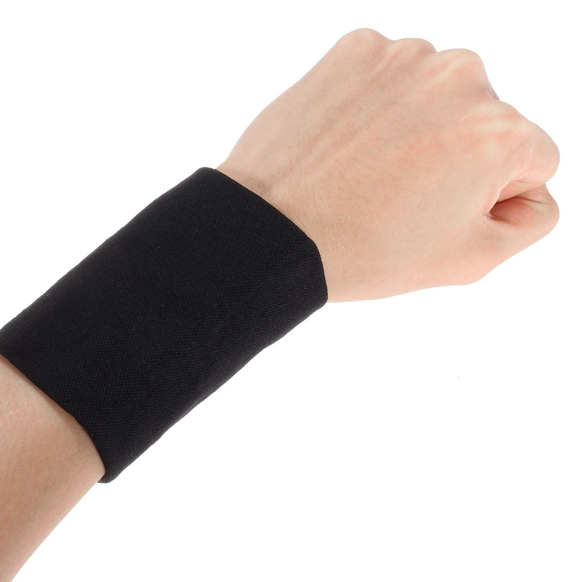 1 Pair Elastic Wrist Support Brace Brand Basketball Tennis Wristband Sports Wrist Wraps Fitness Brace Safty Protection