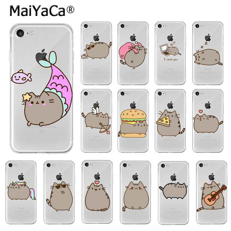 MaiYaCa Funny Cute Pusheen Cat Customer High Quality Phone Case for Apple iPhone 8 7 6 6S Plus X XS MAX 5 5S SE XR Cellphones