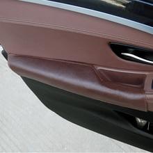 ل BMW 5 سلسلة F10 F18 2011 2012 2013 2014 2015 2016 2017 سيارة سائق الجانب الباب مسند ذراع مقبض سحب البقر أغطية جلد
