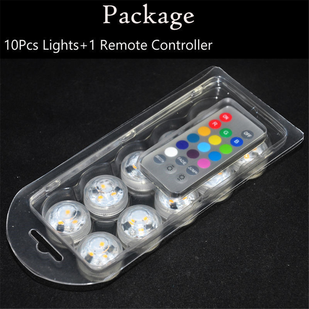 Kitosun Battery Operated Remote Controlled Submersible MINI LED Tea Lights For Wedding Reception