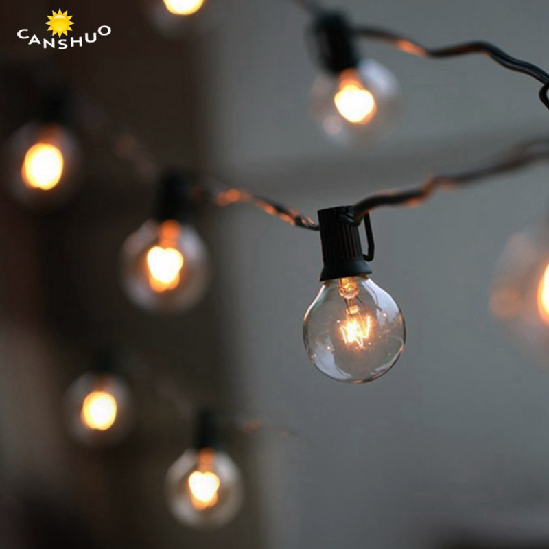 G40 Globe String Lights with 25 Clear Bulbs 25Ft UL Listed for Indoor&Outdoor Retro Lamps Decoration for Garden Patio Party Xmas dimmable led warm white string lights indoor outdoor use connectable 48 length with 15 led bulbs for porch patio free shipping