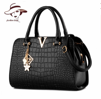 2017 Woman Bag Fashion Designers Casual-bag Bolsas Femininas Famous Brand V Metal Tote Leather Bag Lady Handbags Shoulder Bag