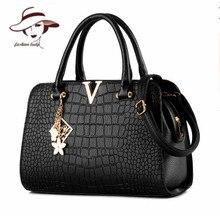 2017 Bolso de La Mujer Diseñadores de Moda Casual-bag Bolsas Femininas Famosa Marca V Metal Tote Bag Lady Bolsos de Hombro de Cuero bolsa