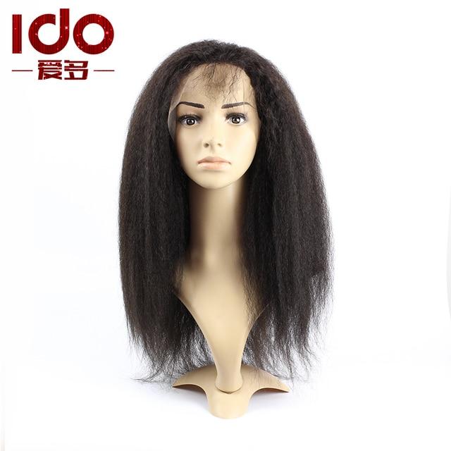 Us 124 0 Kinky Straight Wig Aliexpress Uk Kinky Straight Lace Front Wig Virgin Hair Kinky Straight Full Lace Wig Human Hair Wigs In Human Hair Lace