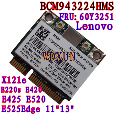 Broadcom Bcm943224hms Bcm4322 N 300m Wireless Card Thinkpad Lenovo E420 E520 60y3251 Wifi Module Internal Pci-e 802.11abgn