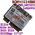 Broadcom bcm943224hms bcm4322 n 300 m placa wireless thinkpad lenovo e420 e520 60y3251 módulo wi-fi interno pci-e 802.11 abgn