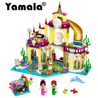 Yamala Princess Undersea Palace Girl Friends Building Blocks 402pcs Bricks Toys For Children Compatible With