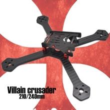 New Villain Crusader 210mm 210 240mm 240 Carbon Fiber 5mm bottom 7075 screw Frame Kit  RC FPV Cross Racing Drone Quadcopter  +