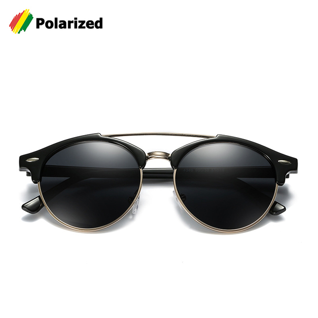a6ad0a60ac5d3 JackJad Fashion 4346 Clubround Double Bridge Style POLARIZED Sunglasses  Vintage Classic Brand Design Sun Glasses Oculos De Sol