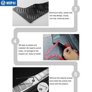 Image 5 - MOPAI Steel Door Sill Scuff Plate Car Interior Rear Bumper Protector Rear Inner Guard Plate for Suzuki Jimny Car Accessories