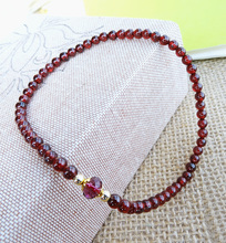 Year of fate can absorb the negative energy required Natural Garnet Ring are Brazil Anklet safety foot ornaments