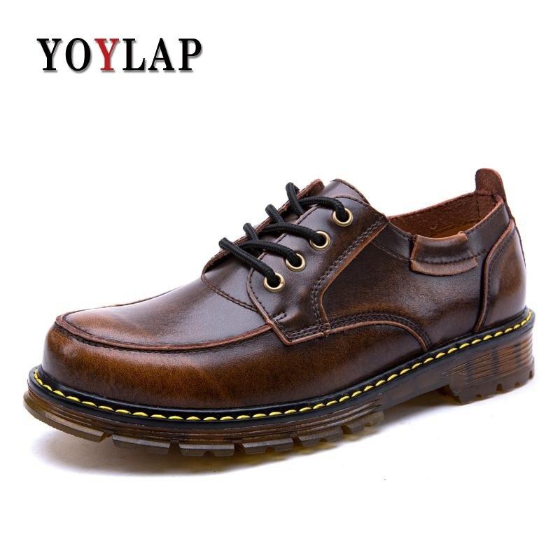 Ретро 2018 весенняя обувь из натуральной кожи Мужские ботинки Dr полусапожки «Martin» Для мужчин Высококачественная Мужская Повседневная обувь ... ...