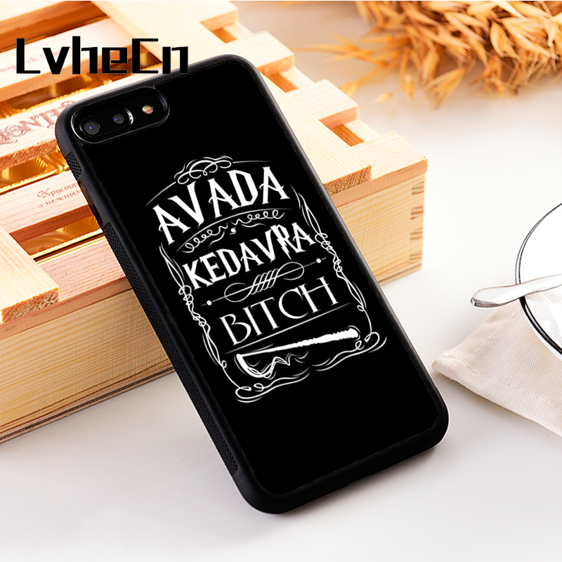 LvheCn 5 5S SE phone cover <font><b>cases</b></font> for <font><b>iphone</b></font> 6 6S 7 <font><b>8</b></font> Plus X Xs Max XR Soft Silicon TPU <font><b>HARRY</b></font> <font><b>POTTER</b></font> AVADA SPELL image