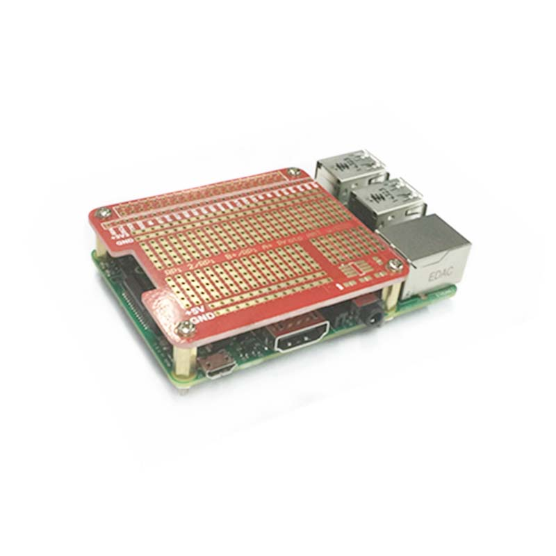 DIY Proto HAT Shield Extension Board For Raspberry Pi 3 And Raspberry Pi 3 Model B+ Plus Red RPI GPIO Board For Arduino