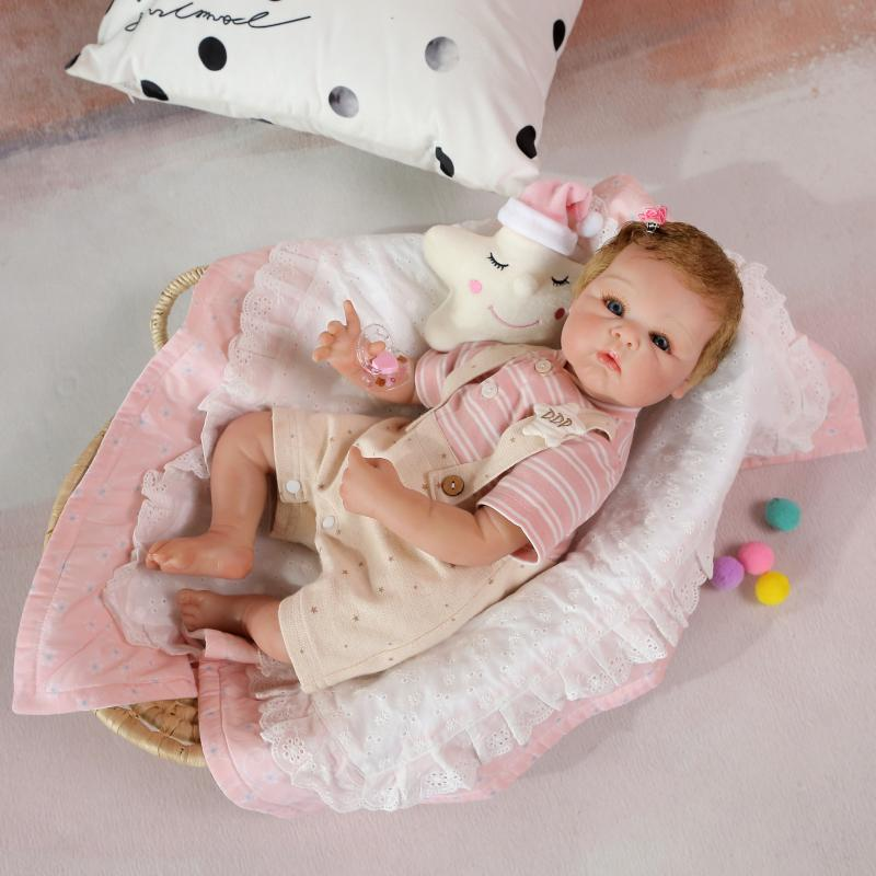 55cm New Soft Body Silicone Reborn Baby Doll Toys Lifelike Newborn Boutique 22inch  Doll Birthday Present Xmas doll present55cm New Soft Body Silicone Reborn Baby Doll Toys Lifelike Newborn Boutique 22inch  Doll Birthday Present Xmas doll present